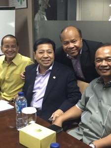 Bersama Pemred berita satu tv saat media visit